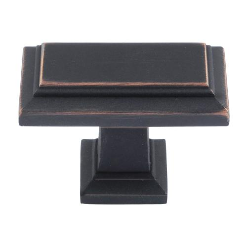 Sutton Place Rectangle Knob 1 7/16 Inch - Venetian Bronze