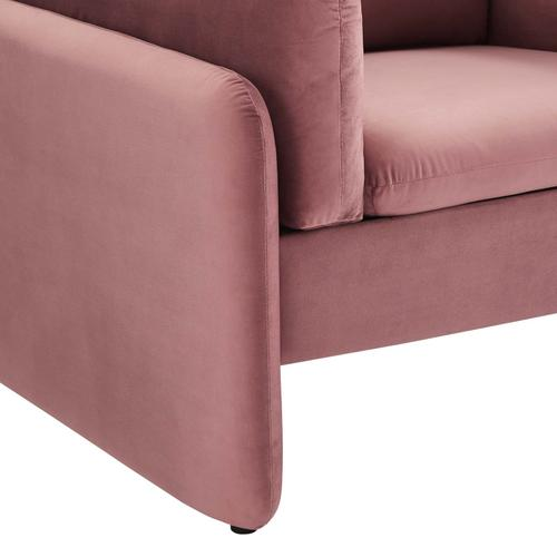 Modway - Indicate Performance Velvet Armchair in Dusty Rose