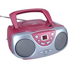 Portable CD Boom Box with AM/FM Radio (Pink)