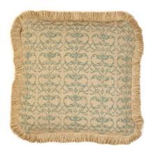 Product Image - Blue Damask Burlap Pillow