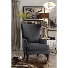 Accent Chair with Kidney Pillow (Stocked in Canada)