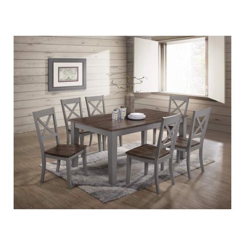5059 A La Carte Grey 5-Piece Drop-Leaf Dining Set