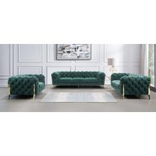 Divani Casa Sheila - Modern Emerald Green Fabric Sofa Set