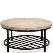 Capri - Round Coffee Table - Alabaster Travertine Finish