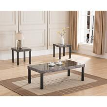 6637 3PC Faux Marble Top Table SET