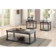 View Product - 3-Piece Occasional Tables Cocktail Table: 47.5 x 23.5 x 18H End Table: 23.5 x 23.5 x 24H