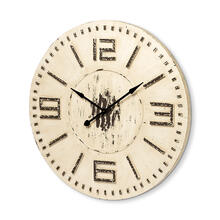 Devonshire 42L x 42H Round Oversized Farmhouse Wall Clock