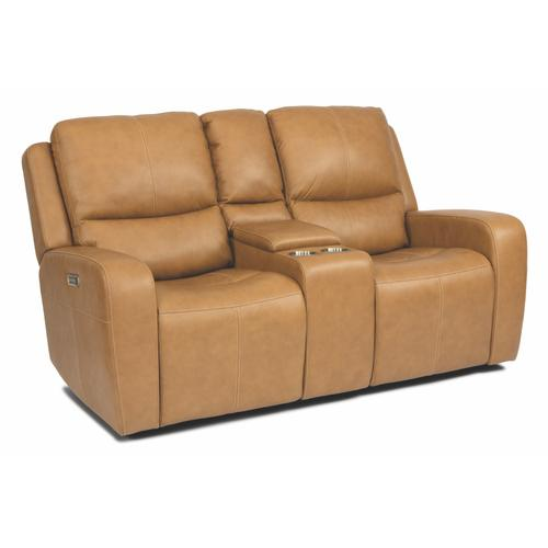 - Aiden Power Reclining Loveseat with Console and Power Headrests