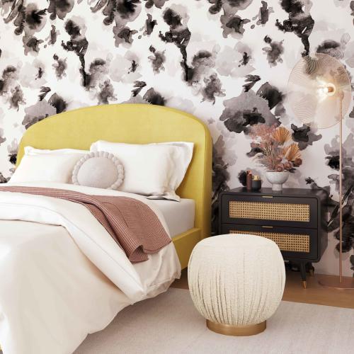Tov Furniture - Tulip Boucle Ottoman
