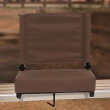See Details - Grandstand Comfort Seats by Flash - 500 lb. Rated Lightweight Stadium Chair with Handle & Ultra-Padded Seat, Brown