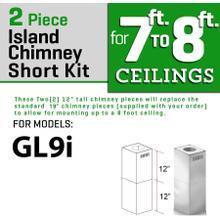 ZLINE Short Kit for Ceiling Under 8 feet ISLAND (SK-GL9i)