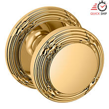 See Details - Lifetime Polished Brass 5013 Estate Knob with 5021 Rose