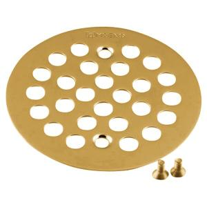 Moen brushed gold tub/shower drain covers Product Image