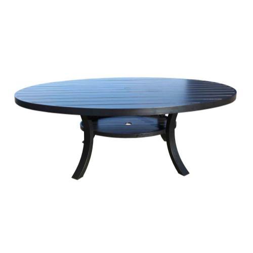 """Monaco 84"""" x 60"""" Round Dining Table"""