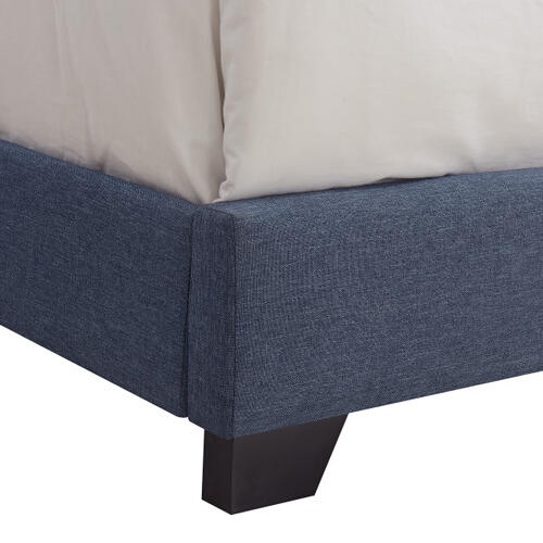 Full One Box Bed - Denim