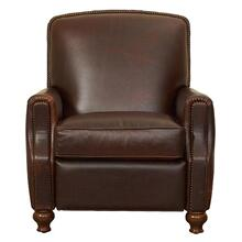 Yale - Dark Brown Tight Back, Set Back Arm Recline
