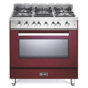 "Burgundy 36"" Gas Single Oven Range - 'N' Series"