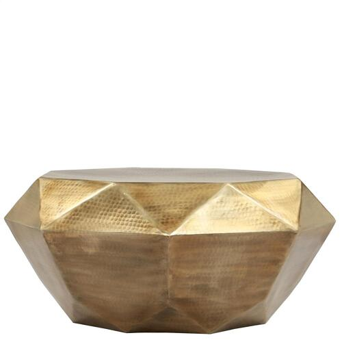 Riverside - Coffee Table - Hammered Gold Finish