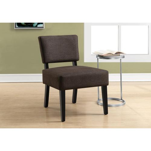 Gallery - ACCENT CHAIR - DARK BROWN FABRIC