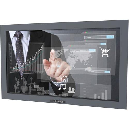 "32"" Pro Series Outdoor Digital Signage - Full Sun and Active Areas - Touch Screen - Landscape Orientation - DS-3211MTL-BL"