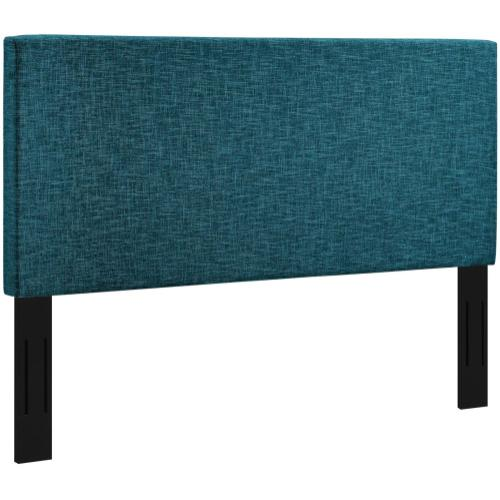 Taylor King and California King Upholstered Linen Fabric Headboard in Teal