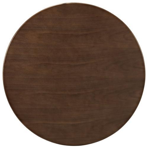 "Lippa 36"" Round Walnut Dining Table in Walnut"