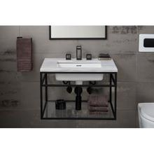 See Details - Wall-Hung Console - Matte Black