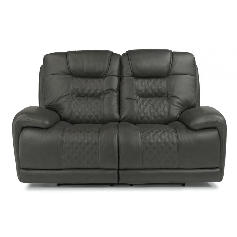 Royce Power Reclining Loveseat with Power Headrests