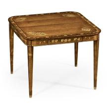 Painted card table (Satinwood)