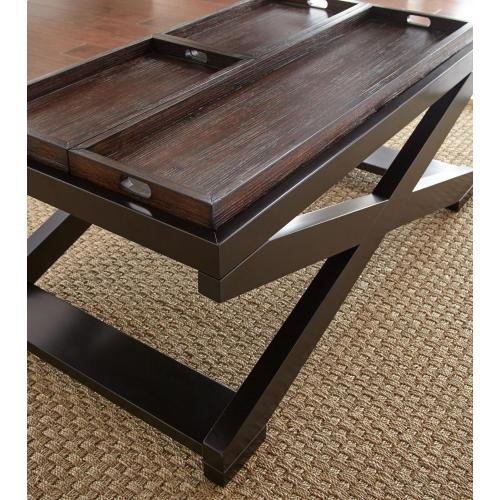 """Steve Silver Co. - Alanis Cocktail Table w/Tray 48""""x28""""x19"""""""