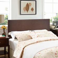 View Product - Region Queen Upholstered Headboard in Dark Brown