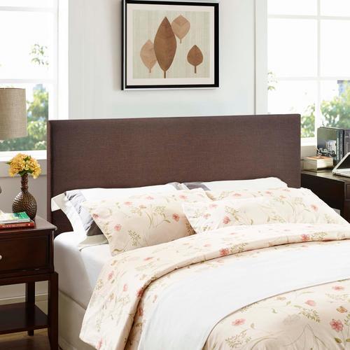 Modway - Region Queen Upholstered Headboard in Dark Brown