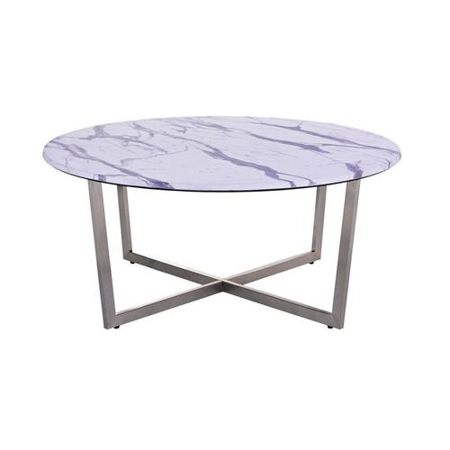 COMING SOON, PRE-ORDER NOW! Pompei Round Marble-Look Coffee Table, 1881