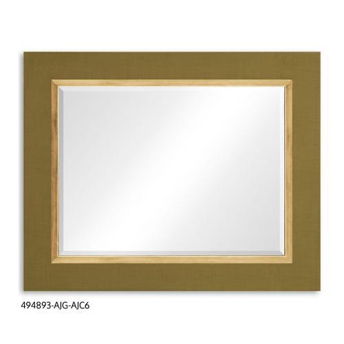 """""""Teal Homespun"""" mirror (Sage/Gold)"""