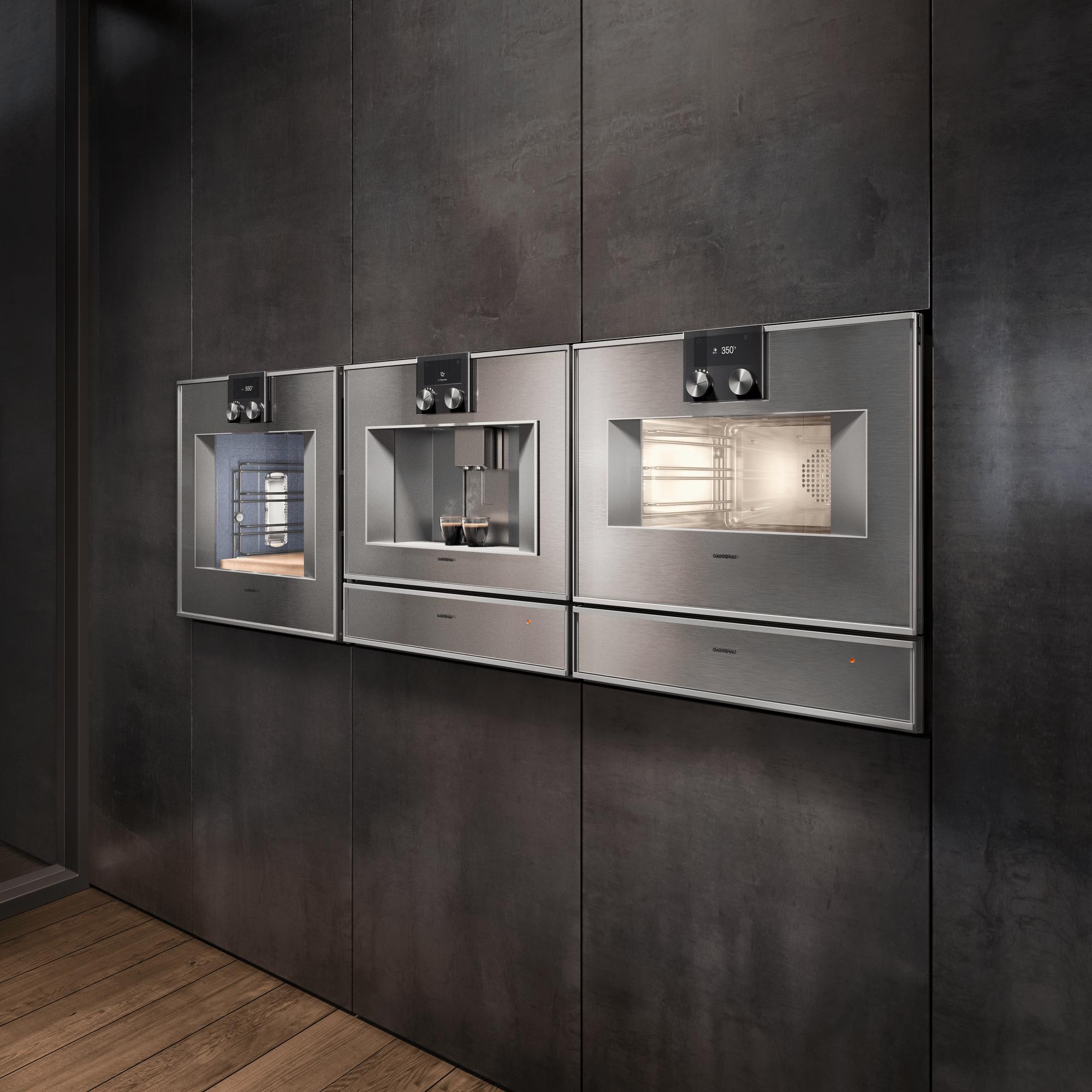 400 Series Oven 24'' Door Hinge: Right, Door Hinge: Right, Stainless Steel Behind Glass Photo #4