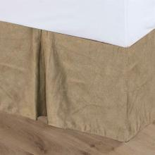 Tan Suede Bed Skirt - Twin