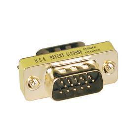 Compact/Slimline VGA Video Gender Changer (HD15 M/M)