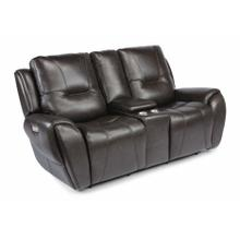 See Details - Trip Power Reclining Loveseat with Console and Power Headrests