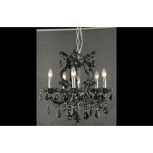 Maria Theresa Collection Chandelier Black Finish 6Lt