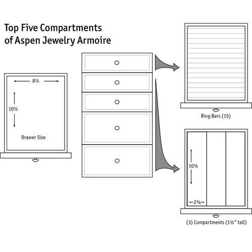 Product Image - Aspen Jewelry Armoire with Inlay
