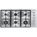 MieleKM 3485 G - Gas cooktop with 2 dual wok burners for particularly versatile cooking convenience.