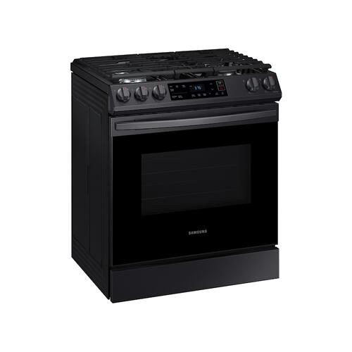 6.0 cu ft. Smart Slide-in Gas Range in Black Stainless Steel
