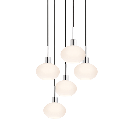 Glass Pendants Demi Oval 5-Light Pendant