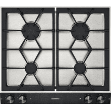 "200 series Vario 200 series gas cooktop Black control panel Width 24"" (60 cm) Natural gas."