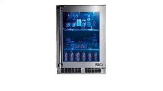 "24"" Outdoor Glass Door Refrigerator, Right Hinge"