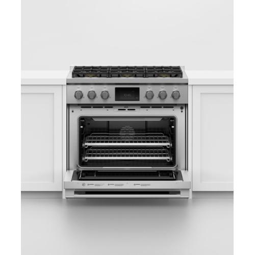 "Dual Fuel Range, 36"", 6 Burners, Self-cleaning"