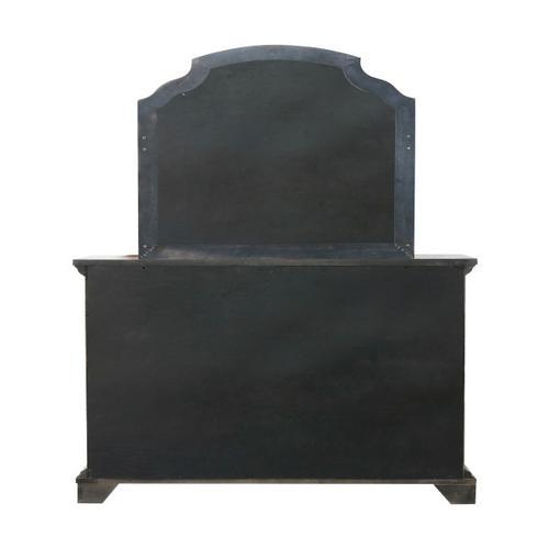 Pulaski Furniture - Bristol Beveled Dresser Mirror in Elm Brown