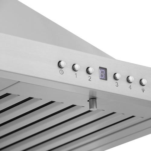 Zline Kitchen and Bath - ZLINE Convertible Vent Wall Mount Range Hood in Stainless Steel (KB) [Size: 36 Inch]