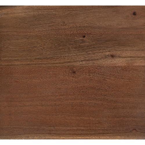 Manzanita Walnut Acacia Bench with Different Bases, VCA-BN60W