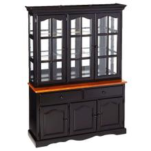 See Details - Treasure Buffet and Lighted Hutch - Antique Black and Cherry